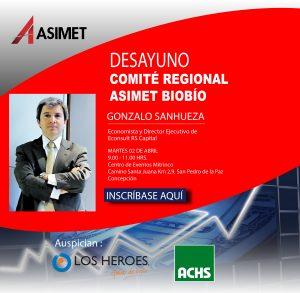 Desayuno Comité Regional Asimet Biobío @ Centro de eventos Mitrinco