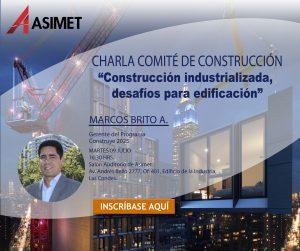 "Charla Comité de Construcción: ""Construcción industrializada, desafíos para edificación"" @ Salón Auditorio Asimet"