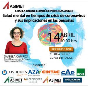 """Charla """"Salud mental en tiempos de crisis y sus implicaciones en las personas"""""""